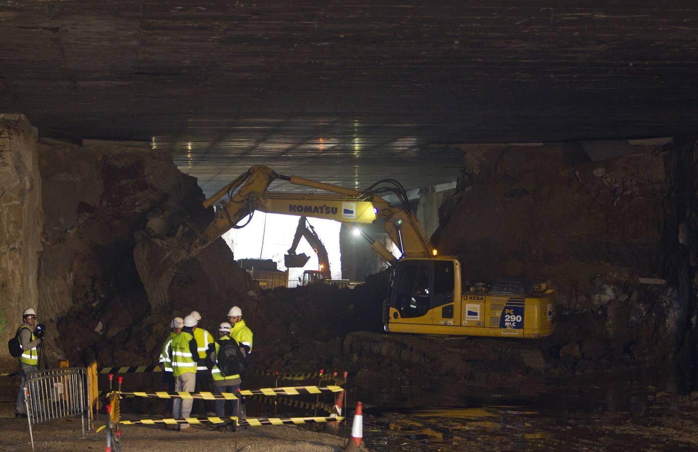Obras del túnel del Centro Botín