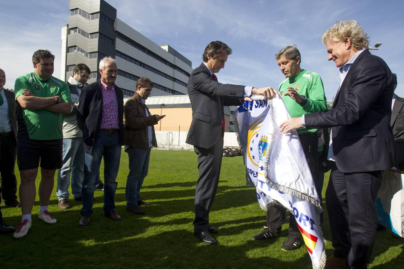 Santander entrega la bandera de la Ciudad Europea del Deporte 2014 al Racing