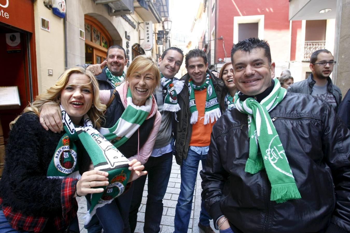 Los aficionados racinguistas toman Logroño